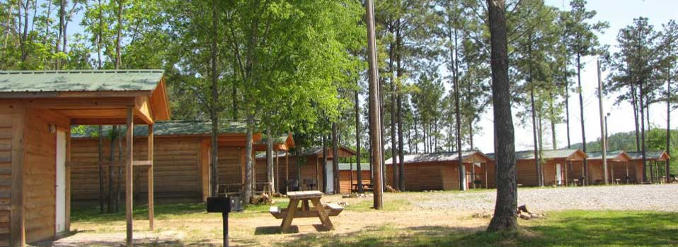 Cabins and Picnic areas